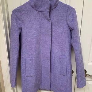 J. Crew car coat lavender